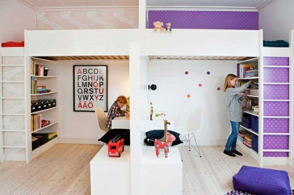raumtrenner regal raumteiler kinderzimmer kinderzimmer einrichten, Schlafzimmer