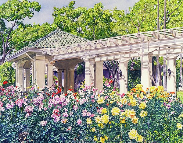 Rose Garden Beauty By David Lloyd Glover Beauty Paintings Rose Beautiful Roses