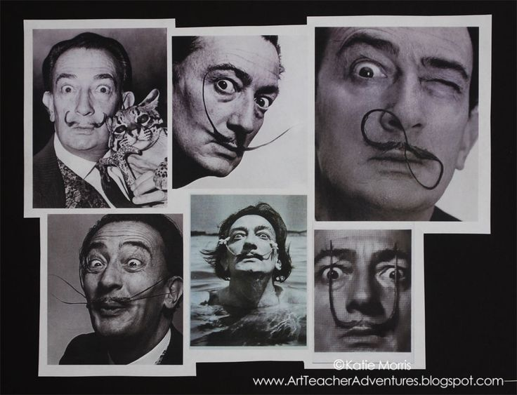 """This teacher/blogger writes: """"My 6th grade students, in particular, are really into mustaches, wearing shirts and jewelry with giant mustaches on them. So, how do you tie mustaches into art class? With an artist who was almost as famous for his mustache as he was for his paintings- Salvador Dali!"""""""