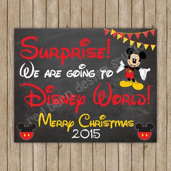 Surprise  We're Going to Disney World by RedBarnDesignStudio