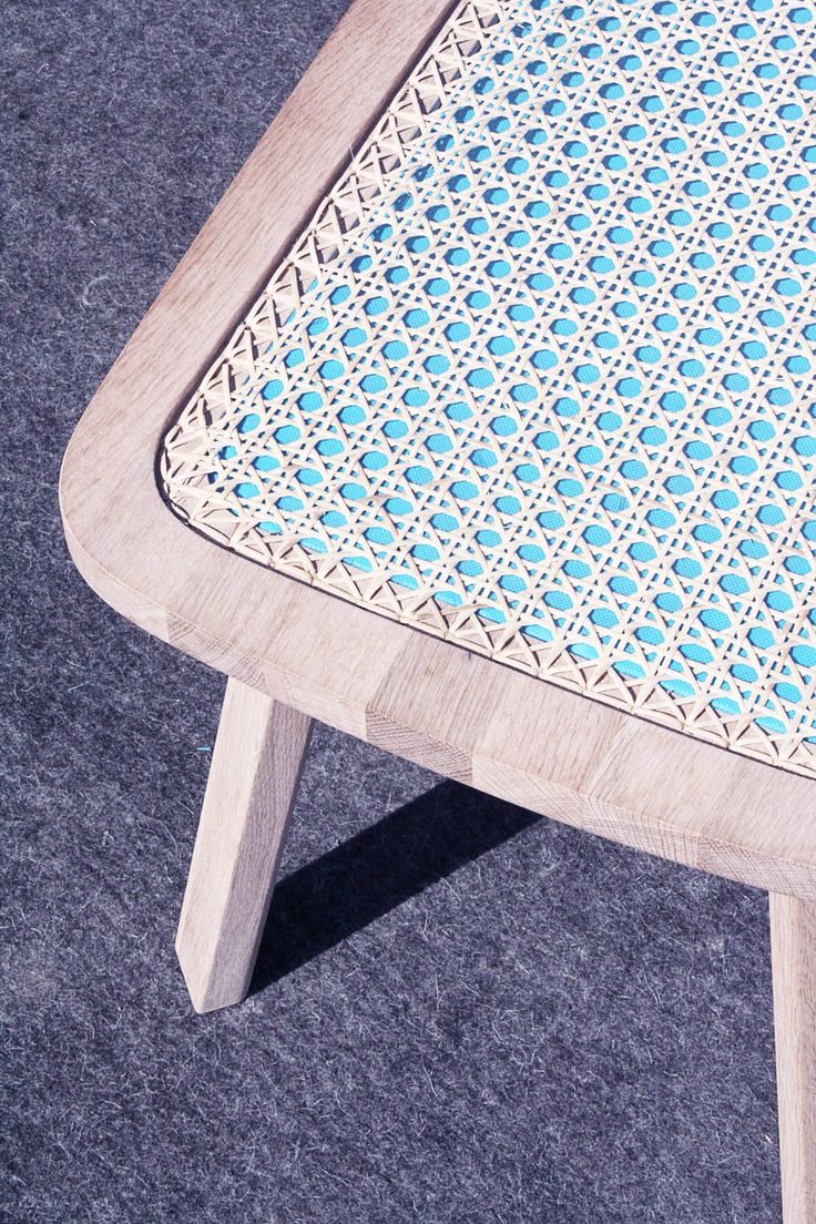 The Bench banc avec osier par Tim Defleur et Oza Design #design #furniture #mobilier #bench #banc