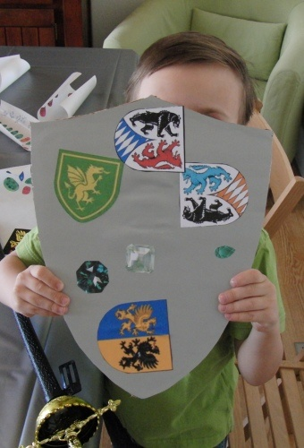 for the boys make your own   Sheild every Cinderella princess party needs a knight  make enough for the girls they love it too