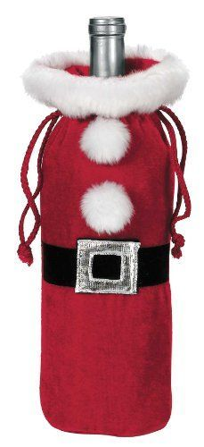Ganz Santa Suit Wine Bottle Bag