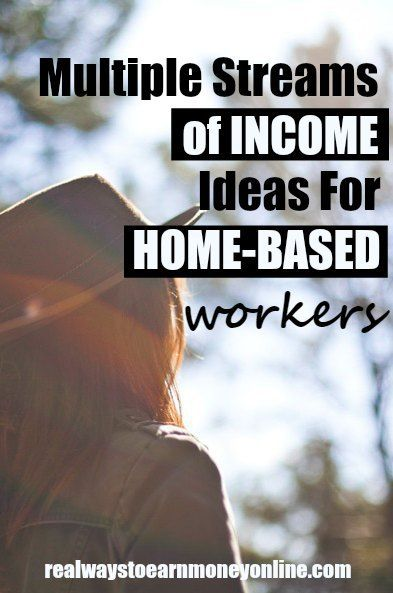 Multiple streams of income ideas for home-based workers. It's smart to protect yourself when you work online to ensure you always have a job or side earner to fall back on.