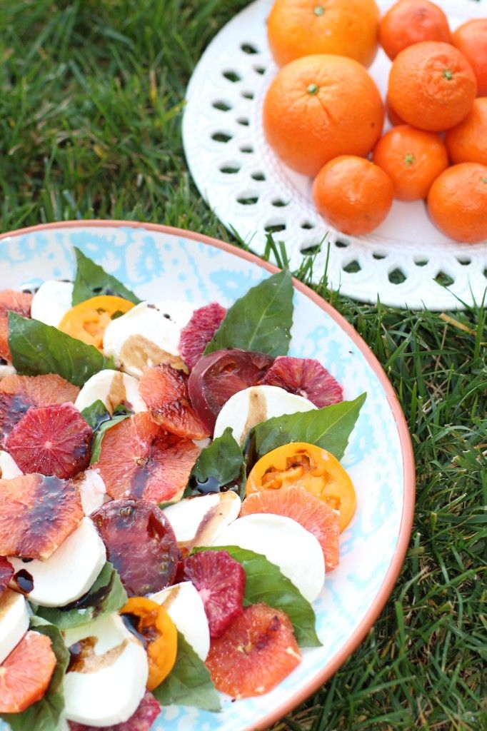 It may not seem like a match made in heaven but I decided to marry two of my favorite categories of foods into one recipe: citrus and caprese. I brought this