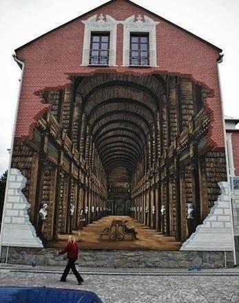 3D chalk graffiti