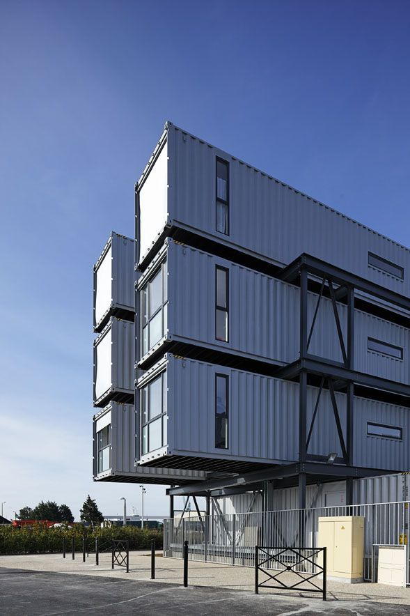 1000 images about group container architecture for Metal piers for housing