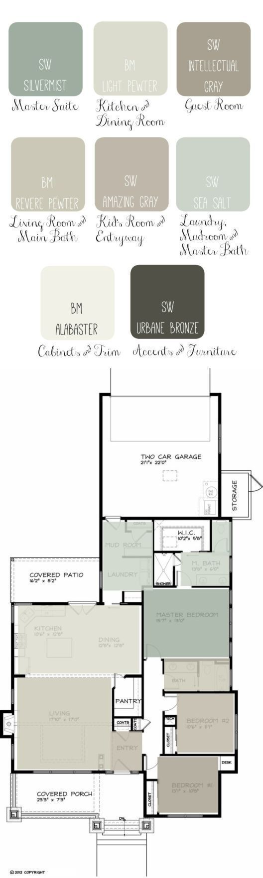 home floor plans color. Whole house paint scheme shows overall color flow from room to  Link on site page create floor plan Best 25 Create ideas Pinterest plans