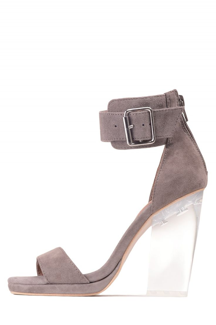 Jeffrey Campbell Shoes SOIREE The Vault in Taupe Clear