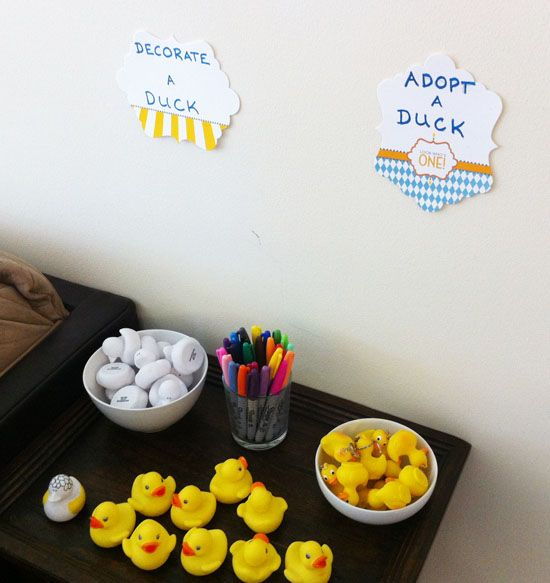 Great ideas for a rubber ducky party ... especially if Emma still loves ducks as much :)