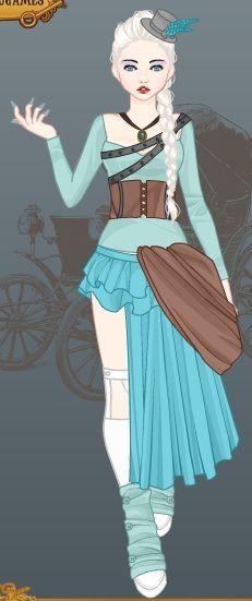 Steampunk Elsa by Raven-the-HedgeWolf.deviantart.com on @deviantART