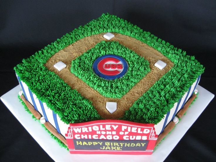 Chicago Cubs Birthday Cake This was for a 9-yr-old Cubs Fan. He really liked it. I got a lot of great ideas from the CC site. Thanks so...