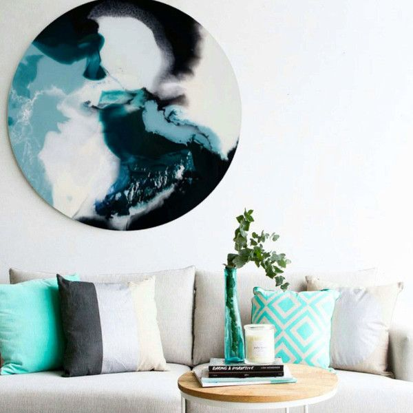 APANIE 120CM ROUND RESIN ABSTRACT