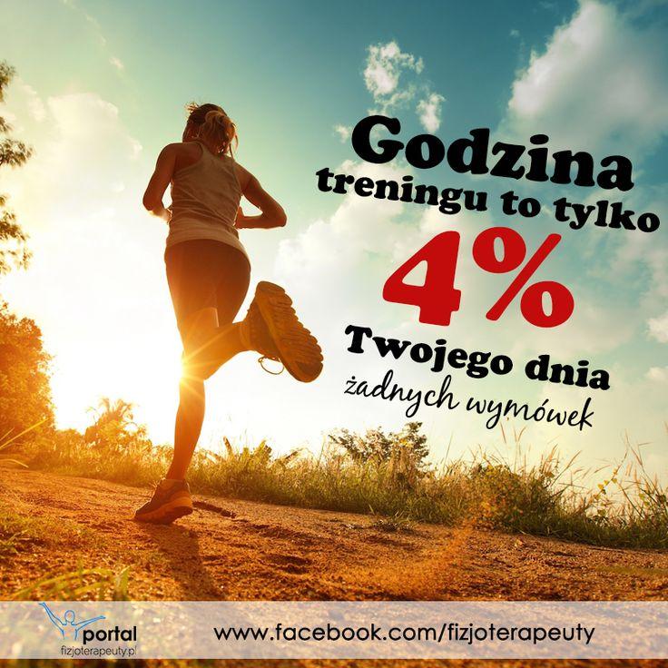 Jedna godzina treningu to tylko 4% całego dnia! #motywacja #zdrowie #fitness #trening