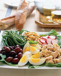 Receta Ensalada con Atún y Huevo - Ensaladas y verduras - Recetas - Charhadas.com