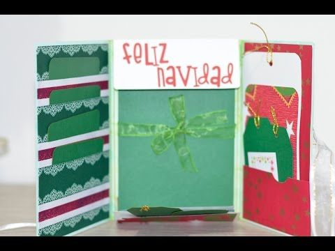 Especial de navidad: mini album / foto folio scrapbook facil DIY - YouTube
