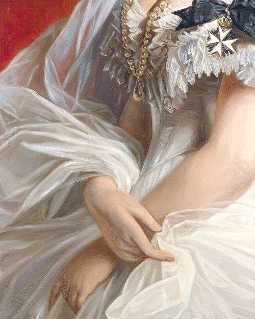 Marie Von Sachsen-Weimar (Détail) attribué à Franz Xaver Winterhalter #Art #Detail