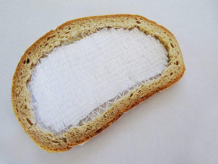 Terézia Krnáčová's Embroidered Bread Slices Combine Food With Textile Art