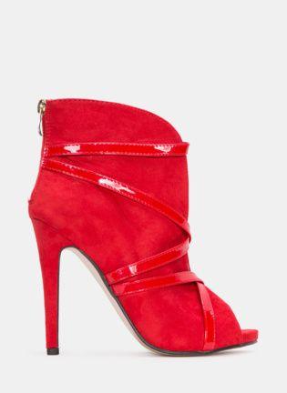 Czerwone botki Crushed