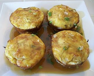 Shrimp egg fu young easy recipe (muffin tins)