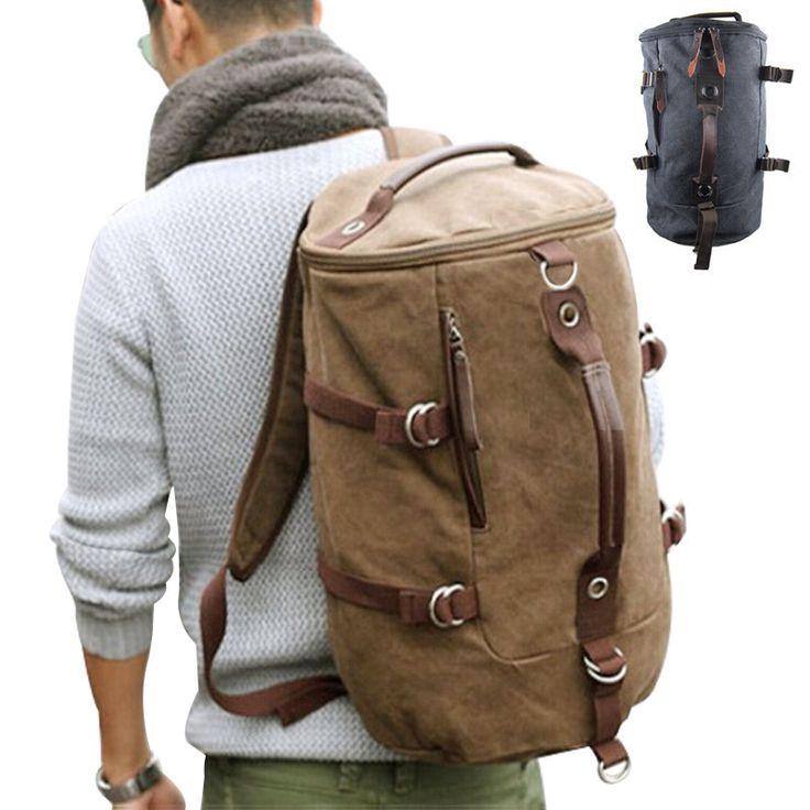 Большой емкости человек дорожная сумка открытый альпинизм рюкзак мужчины сумки туризм отдых холст ведро рюкзаки