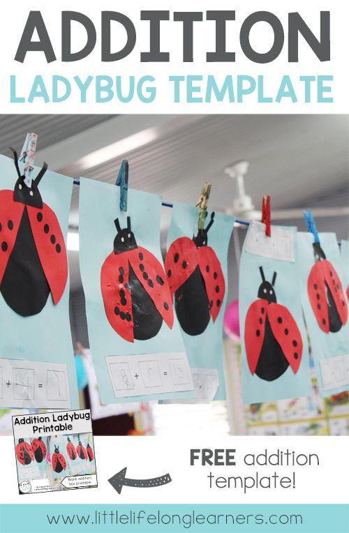 FREE Addition ladybug activity   Learning how to add   Hands on maths activity   Prep, Foundation and Kindergarten lesson ideas   Printables for Australian teachers   Australian Curriculum  