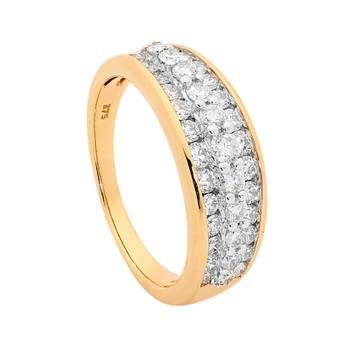 1.00ct Diamond Dress Ring in 9ct Yellow Gold