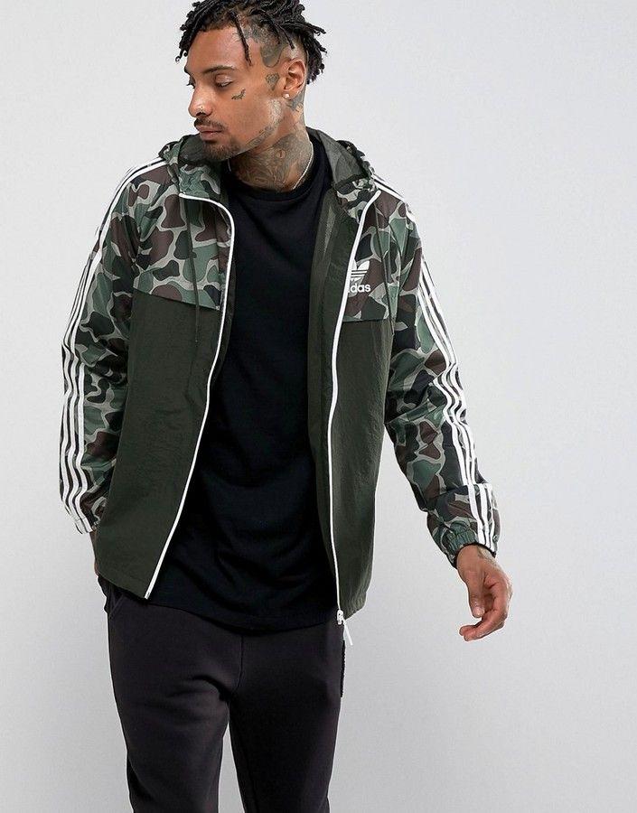 b3233cdeb1192 adidas Originals Camo Windbreaker In Green | Clothing for men ...