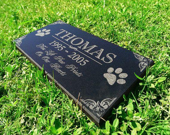 Personalized Dog Memorial / Cat Memorial Stone Granite In Memory of Grave Marker Laser Engraved Personalized Headstone Custom Engraved Garden Memorial