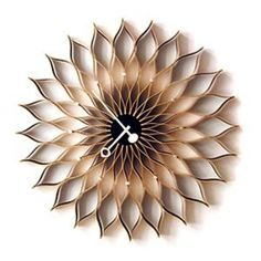 Love clocks and love sunflowers. This is both! {Vitra Nelson Sunflower Clock}