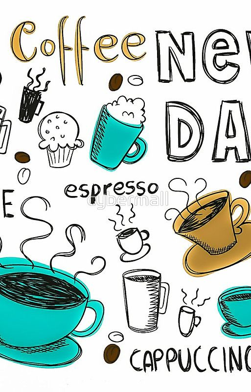 Hand Drawn Coffee Cups  25% offiPhone Cases,Samsung Cases&iPhone Wallets. UseONTHECASE25at checkout.