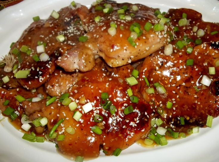 Spicy Sesame Pork Chops-- I would add more red pepper flakes, pepper and salt, but overall this is a solid recipe.