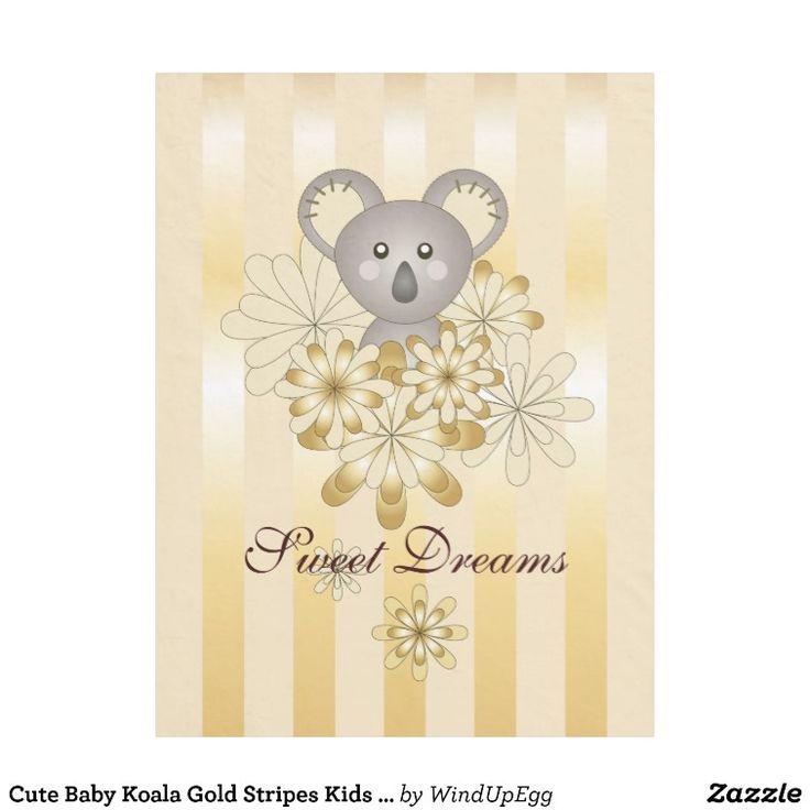 Original Design Cute Kids Cartoon Baby Koala Fleece Blanket Gift