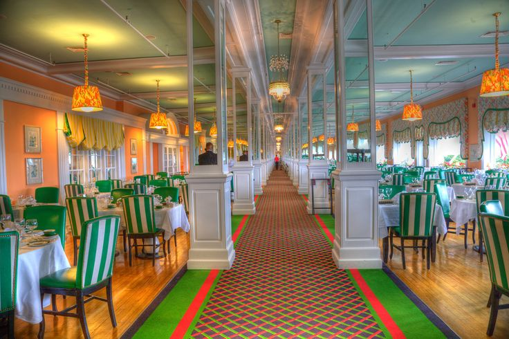 Dining Room, Grand Hotel, Mackinac Island, Michigan | Mackinac Island  Michigan, Mackinac Island And Grand Hotel Part 21