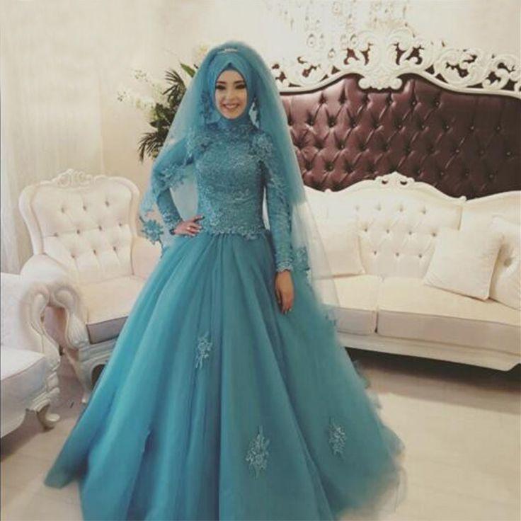 Abiye Gece Elbisesi турецкий люкс свадебное платье хиджаб пользовательские исламская аппликация свадебные платья мусульманского невесты платья Gelinlik 2016