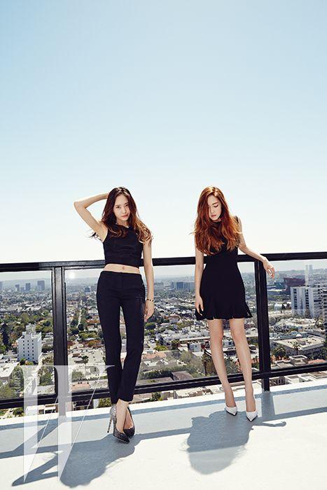SNSD Jessica and f(x) Krystal - W Magazine June Issue '14