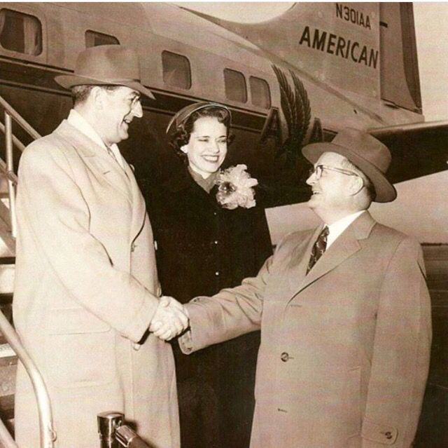 (1958) Brother and Sister Knorr being greeted by Brother Payne in Tulsa, Oklahoma, where he dedicated a Kingdom Hall. (Credit: @davidfore7) #jwhistory