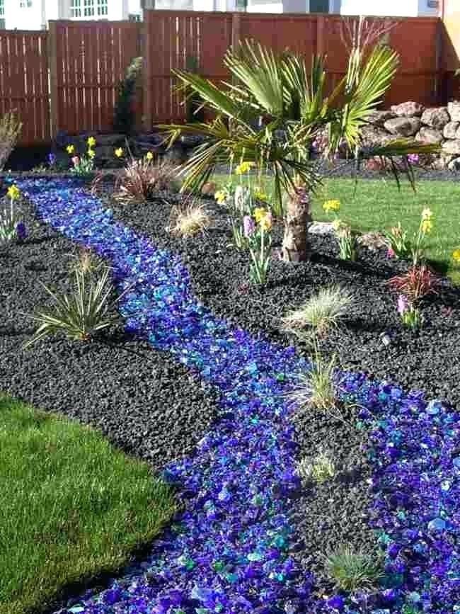 Blue Glass Landscape Rocks Blue Colored Landscape Rocks Front Yard