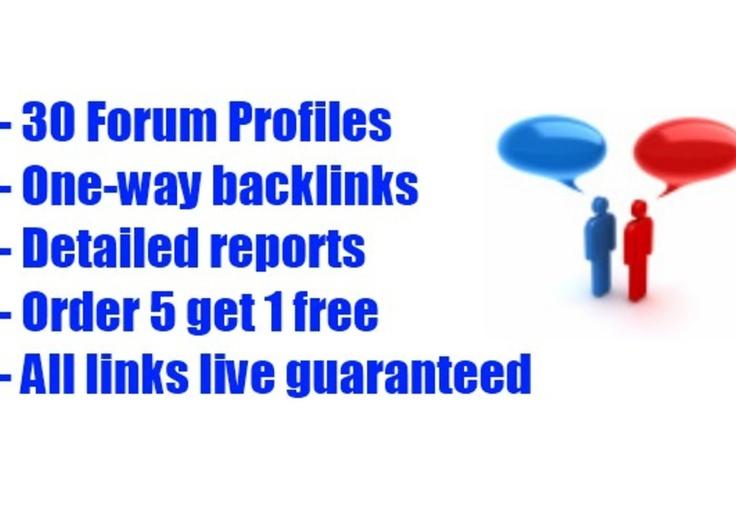 castorland: create you 30 forum profile links for $5, on fiverr.com