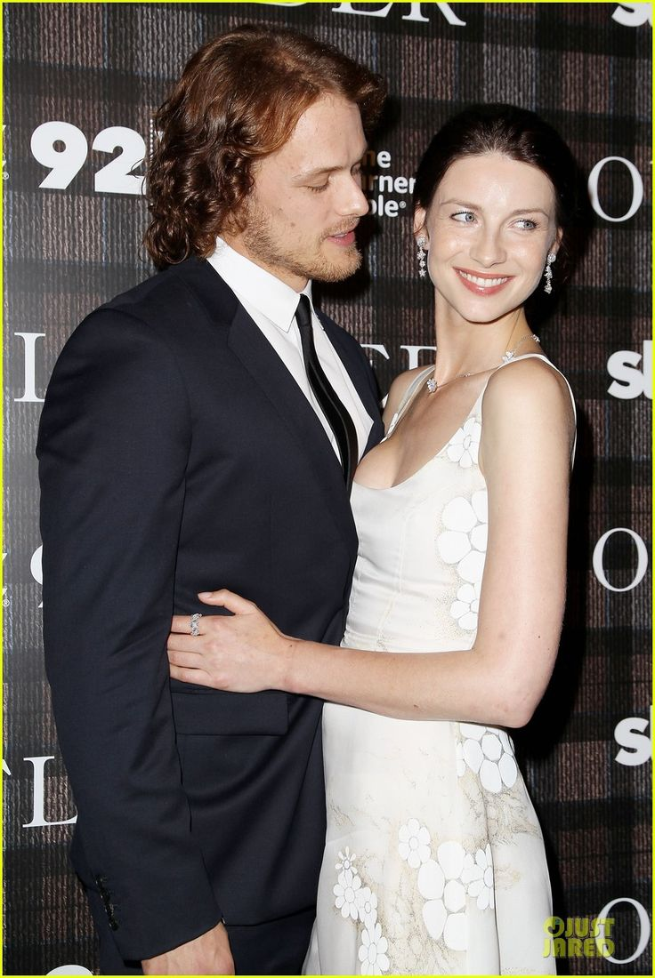 Sam Heughan and Caitriona Balfe   the sultry way he looks at her is just too much.  #Outlander #Love