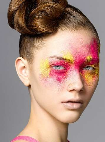 How I look after trying to put on eye shadow.