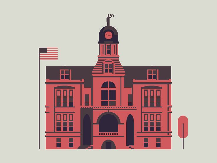 This is the 14th piece in my ongoing Design Prompts series where I combine the style of a popular shot with a prompt from Design Prompts. This is my local city hall, enjoy!  [shot] + [prompt] =
