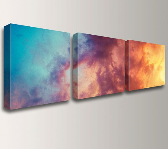 """"""" Atmosphere """" by The Modern Art Shop on Etsy. Three piece canvas triptych photo split. Available in lots of sizes."""