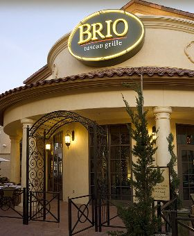 Brio    Has an awesome Happy Hour right now starting at 3 p.m.   Get the spicy eggplant
