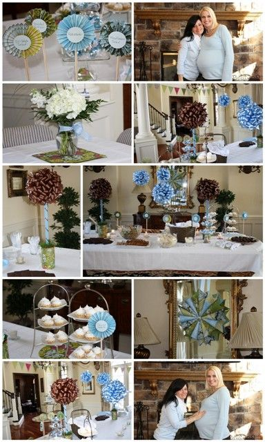 17 best images about michigan shower on pinterest boy for Baby shower decoration ideas for twin boys