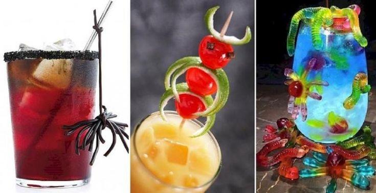 14 Façons HALLUCINANTES de décorer les drinks pour un Party d'Halloween! - Cuisine - Trucs et Bricolages