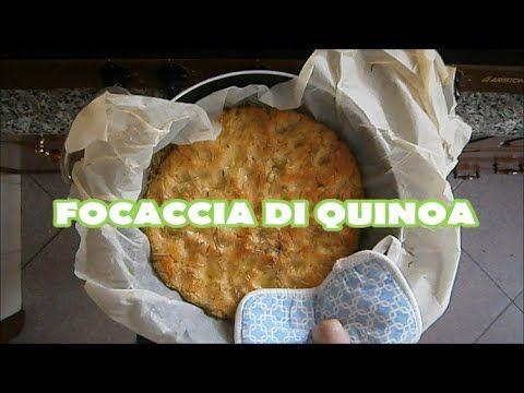 Ricetta della Focaccia con farina di Quinoa (Per tutti i gruppi: 0, A, B, AB) - YouTube