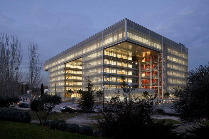 Banco Popular Headquarters in Madrid by Arquitectos Ayala-a transparent and open office-scape promotes an interactive environment: http://www.archello.com/en/project/banco-popular-headquarters #Architecture #Design