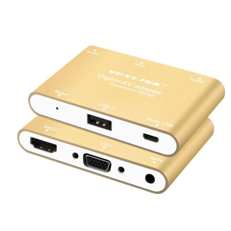 VOXLINK Digital AV Adapter USB to HDMI / VGA+Audio Dual Display Converter Adapter for IOS Android Smartphone Ipad Window MacBook – Shop Now! – WorldOfTablet.com