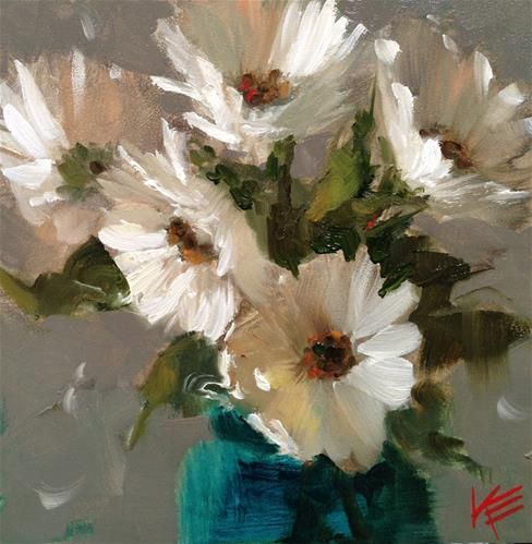 Daisies - Original Fine Art for Sale - © by Krista Eaton